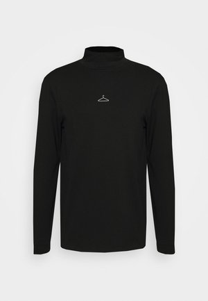HANGER ROLLNECK CENTER LOGO - Longsleeve - black