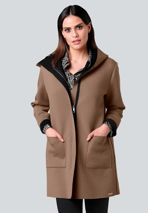 Short coat - beige schwarz