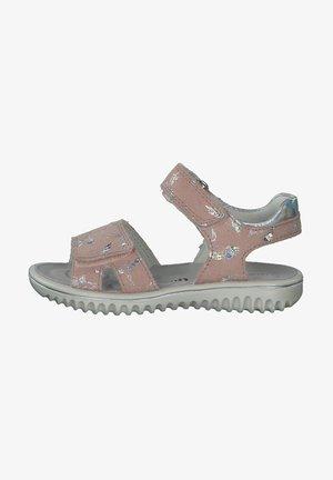 Walking sandals - rosa silber