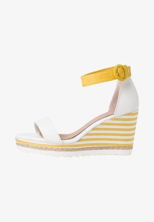 BY GUIDO MARIA KRETSCHMER - Sandalen met hoge hak - white/yellow