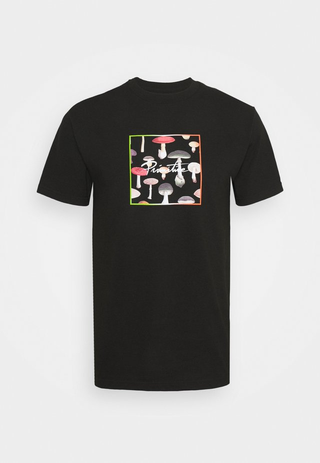 FUNGI BOX TEE - T-shirts med print - black