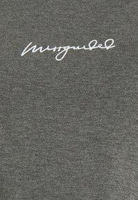 Missguided Maternity - SCRIPT NIGHTWEAR SHORTS SET - Pyjama bottoms - grey - 4