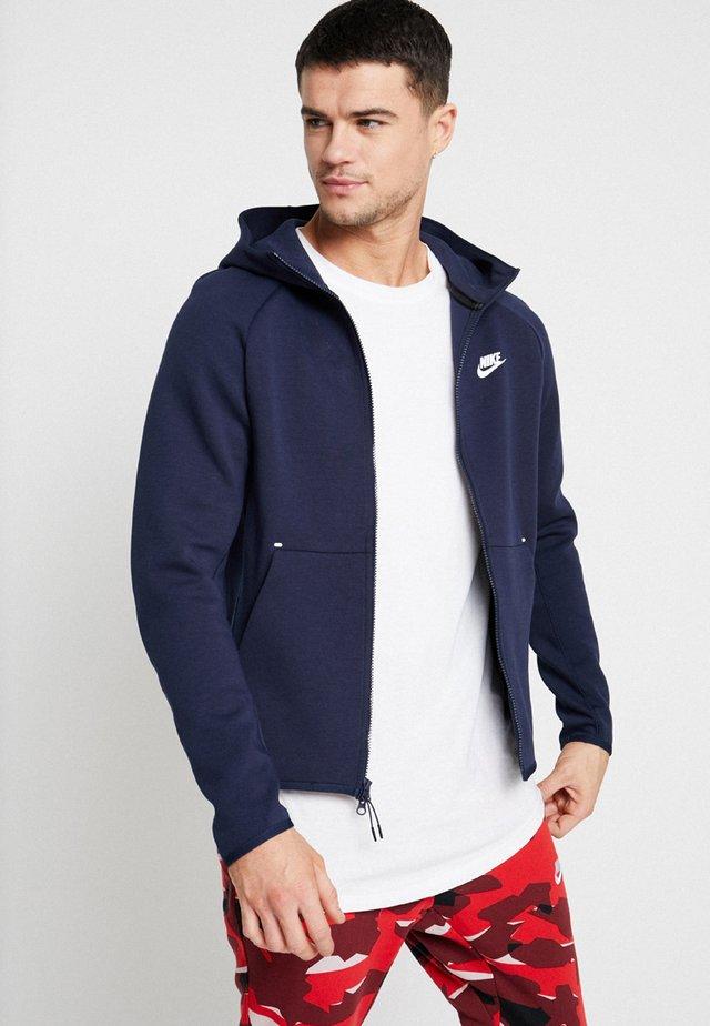 TECH FULLZIP HOODIE - Zip-up hoodie - obsidian/white