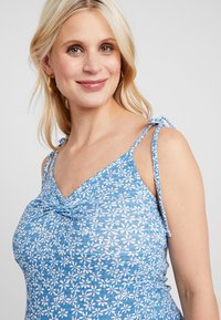 Topshop Maternity - DITSY TWIST DRESS - Jersey dress - blue - 5