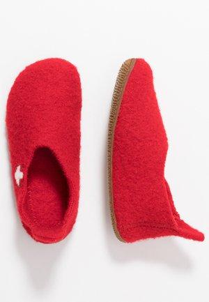 SLIPPER MIT SCHWEIZER KREUZ - Slippers - rot