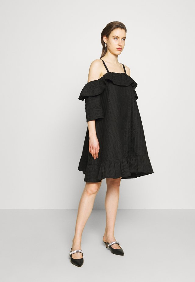 FLOSS DRESS - Korte jurk - black