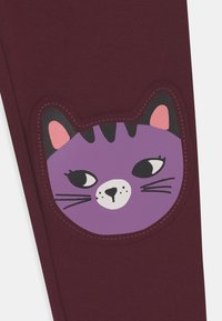 Lindex - KNEEPATCH CATS - Leggings - Trousers - dark lilac - 2