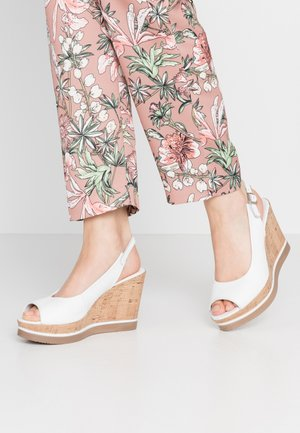 MARY - High heeled sandals - light white
