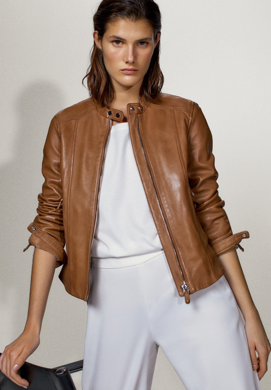Massimo Dutti Leren jassen dames online kopen | Gratis
