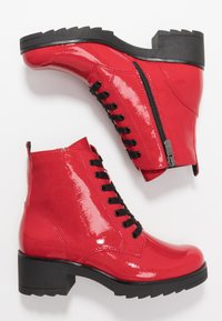 Marco Tozzi - Platform ankle boots - red - 3