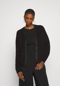 Rich & Royal - CARDIGAN WITH DETAIL - Vest - black - 0
