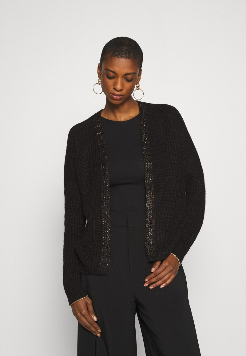 Rich & Royal - CARDIGAN WITH DETAIL - Vest - black