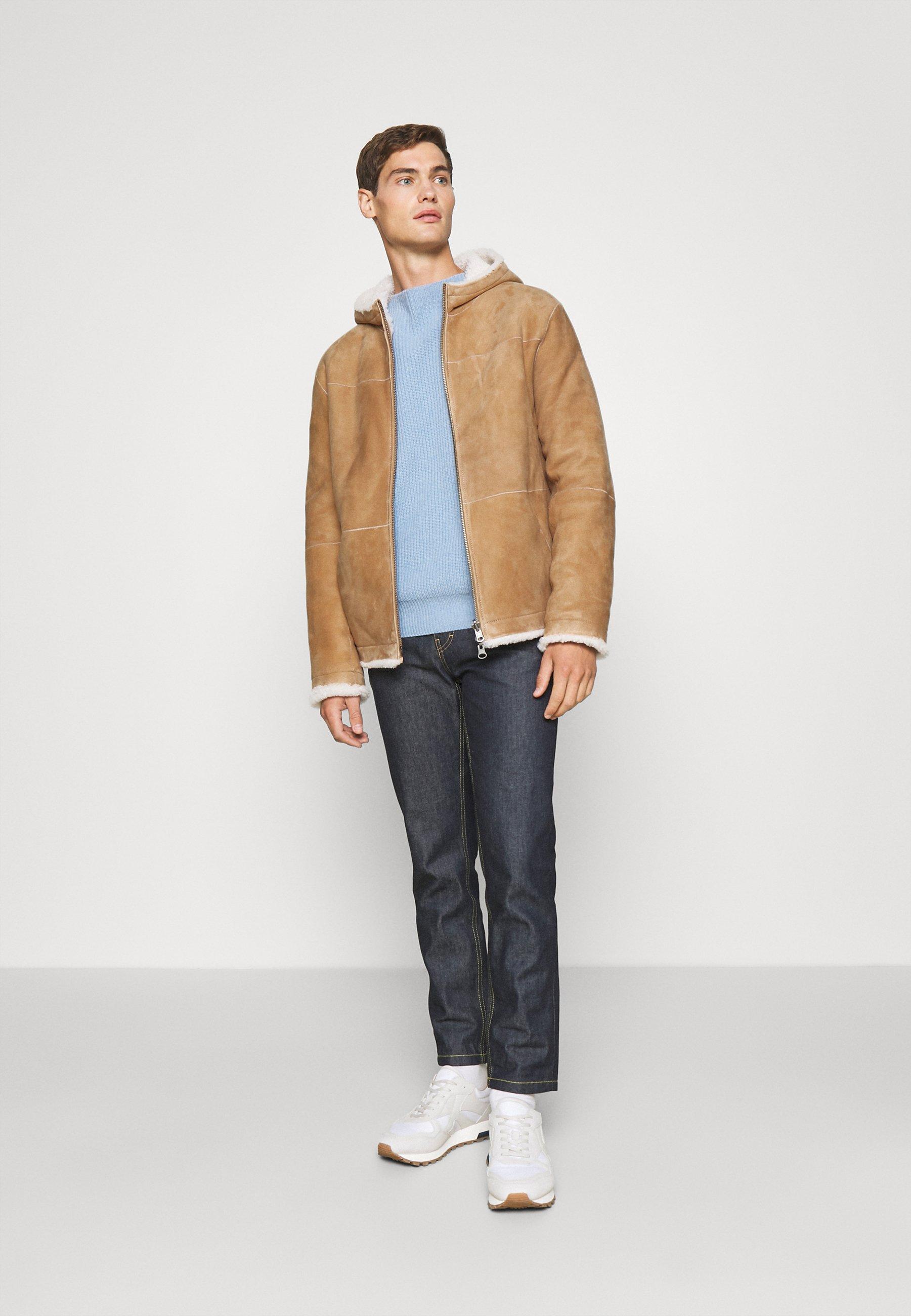 Men MONTONE - Leather jacket