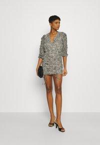 Gina Tricot - MICHELLE DRESS - Cocktail dress / Party dress - white spot - 1