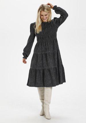 KATRIN - Denim dress - black wash