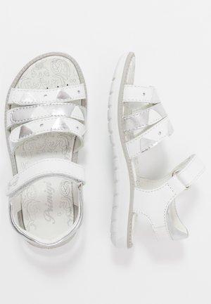 Sandals - bianco/argento