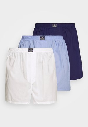 3 PACK - Boxer shorts - white/blue