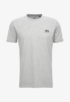 T-shirt med print - grey heather