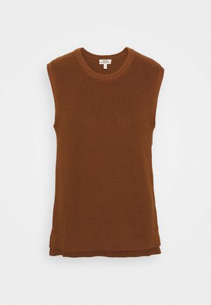 CREWNECK VEST - Jumper - brown