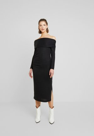 CUT AND SEW BARDOT DRESS - Strikkjoler - black