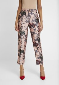 Scotch & Soda - PRINTED PANTS IN SHINY QUALITY - Bukse - pink - 0
