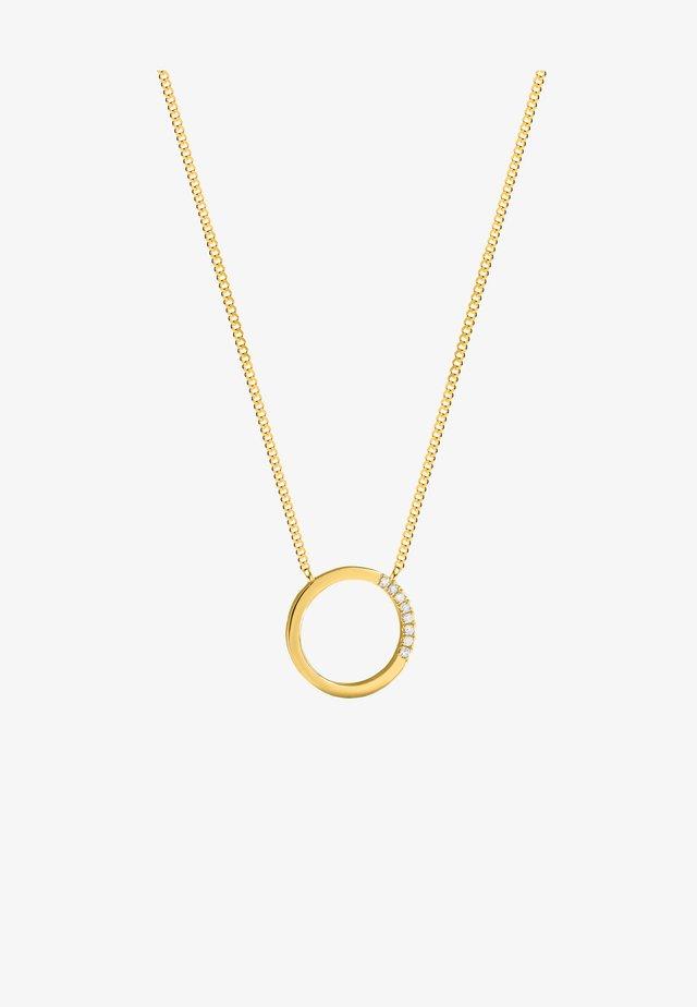 FULL CIRCLE DIAMOND NECKLACE - Collier - white rhodium silver