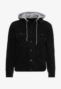 SIKSILK - DETACHABLE HOOD - Denim jacket - washed black - 3