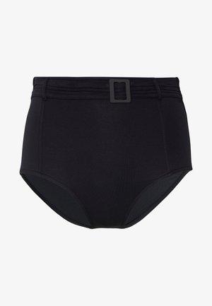 HIGH WAIST PANT PINTUCK BELT - Bikinibroekje - black