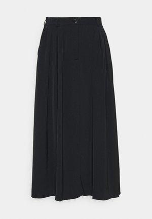 PLEATED MIDI SKIRT - Áčková sukně - black