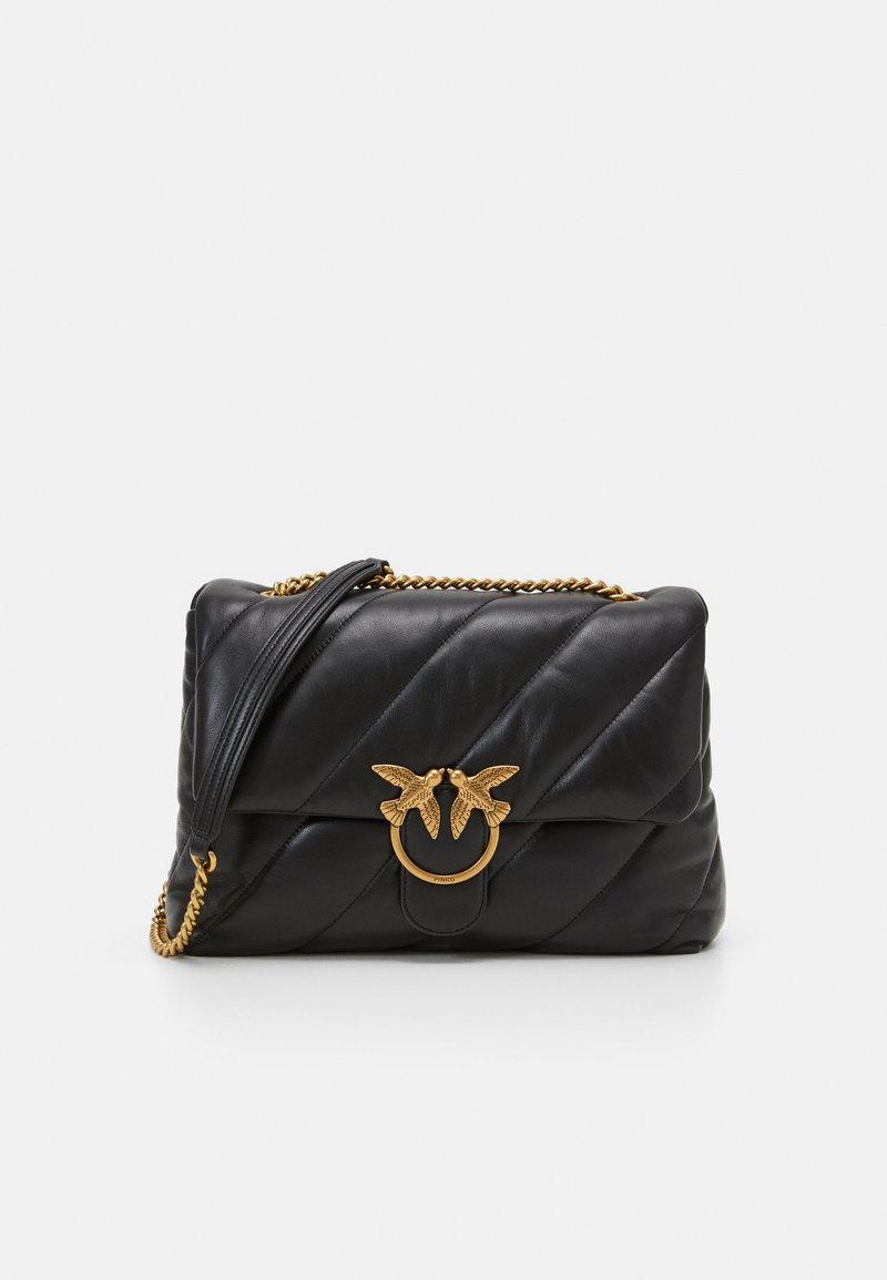 Pinko - LOVE BIG MAXI QUILT - Handbag - black