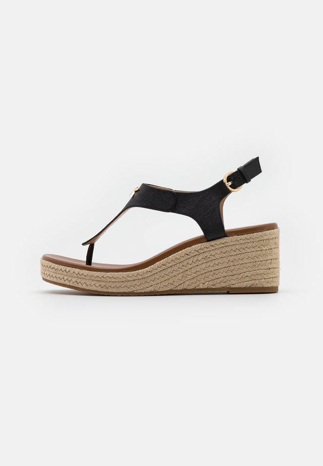 LANEY THONG - Espadrilles - black