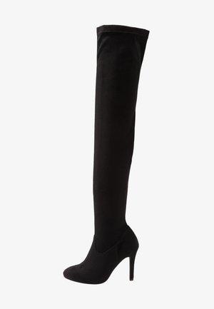 Boots med høye hæler - black