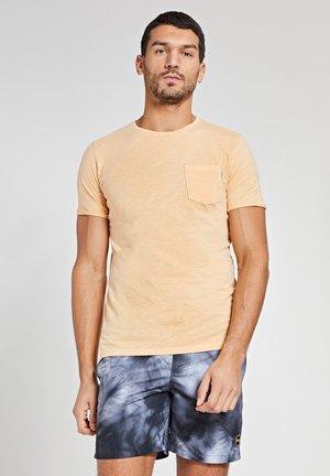 Print T-shirt - miami peach