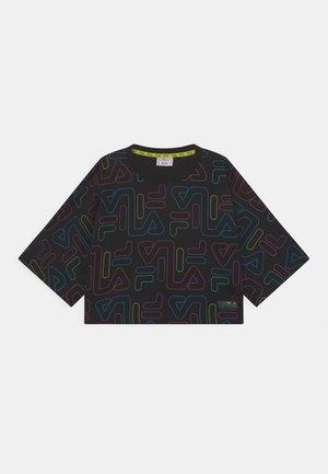 SAMIA WIDE CROPPED TEE UNISEX - T-Shirt print - black