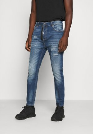 ZIPOLLO CARROT - Jeans Tapered Fit - black