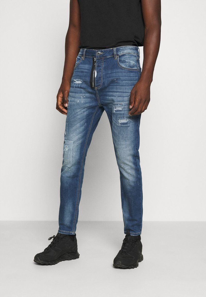 Alessandro Zavetti - ZIPOLLO CARROT - Jeans Tapered Fit - black