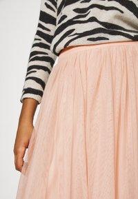 Lace & Beads - MARIKO SKIRT - Áčková sukně - nude - 5