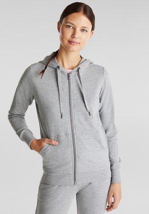MIT BIO-BAUMWOLLE - Zip-up hoodie - medium grey