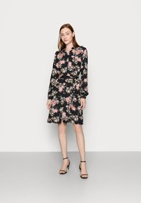 PIECES Tall - PCPAOLA DRESS - Shirt dress - black - 1