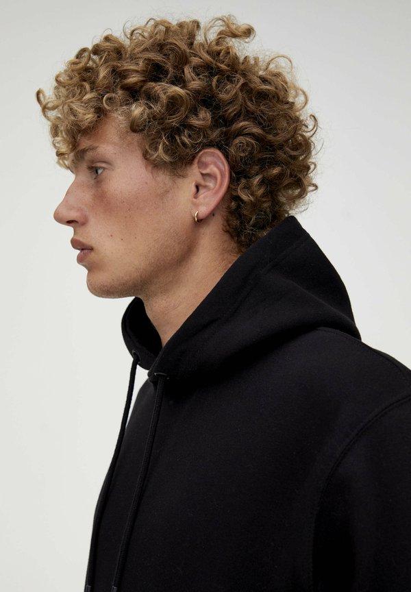 PULL&BEAR Bluza z kapturem - black/czarny Odzież Męska RODC