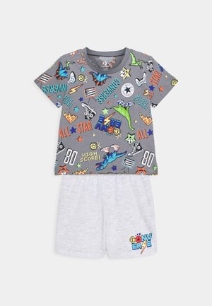 SET - Print T-shirt - lunar rock heather