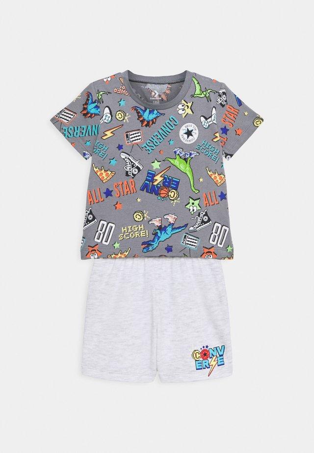 SET - Print T-shirt - lunar rock heather