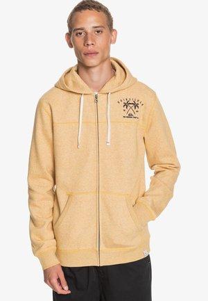 Zip-up hoodie - honey heather