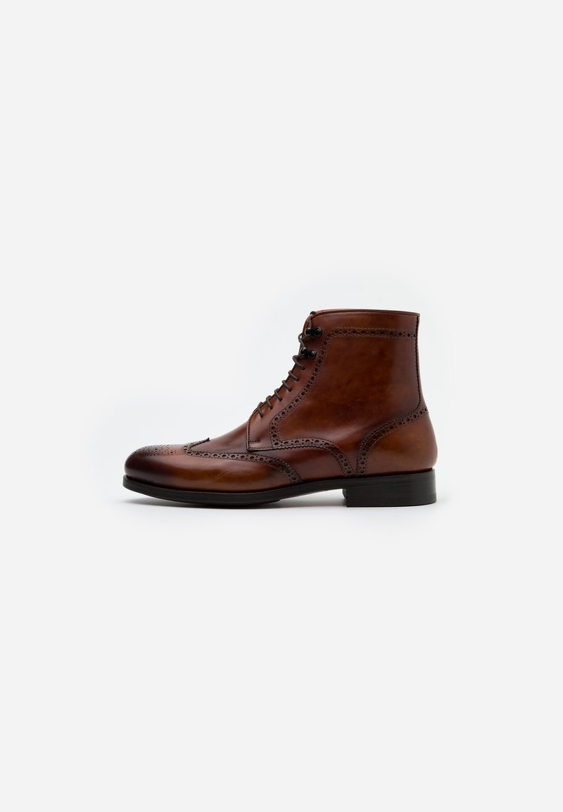 Magnanni - Lace-up ankle boots - coñac