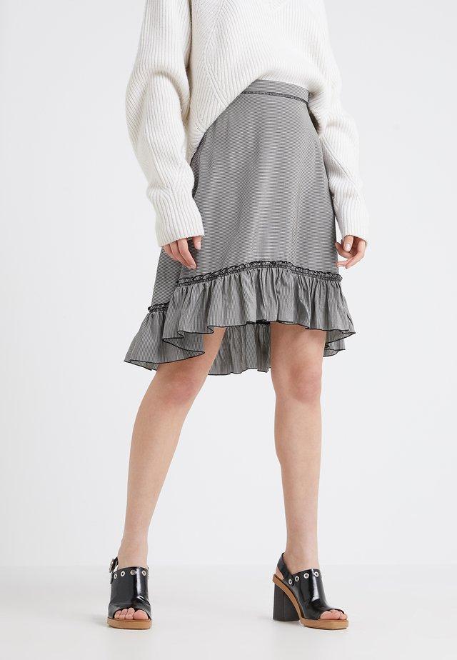 Jupe trapèze - black /white
