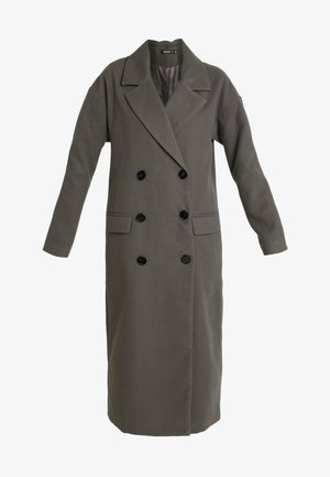 OVERSIZED DOUBLE BREASTED MIDAXI COAT - Manteau classique - charcoal