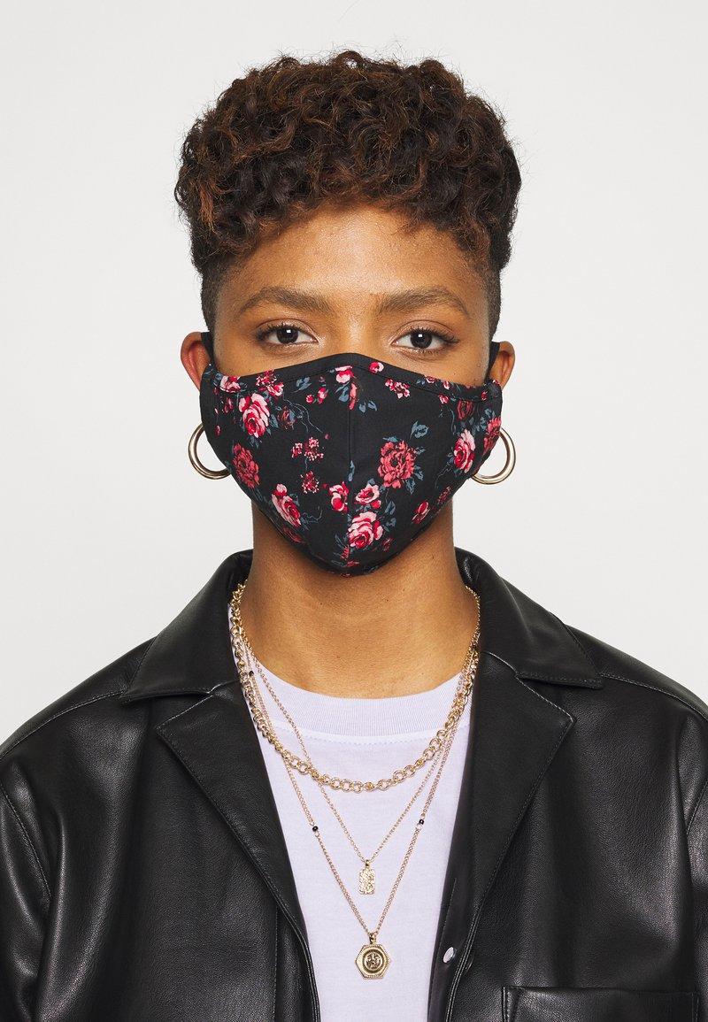 Even&Odd - 3 PACK - Látková maska - multi/black/khaki