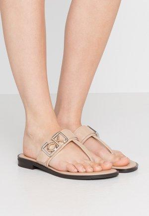 TAMURA - T-bar sandals - desert sand