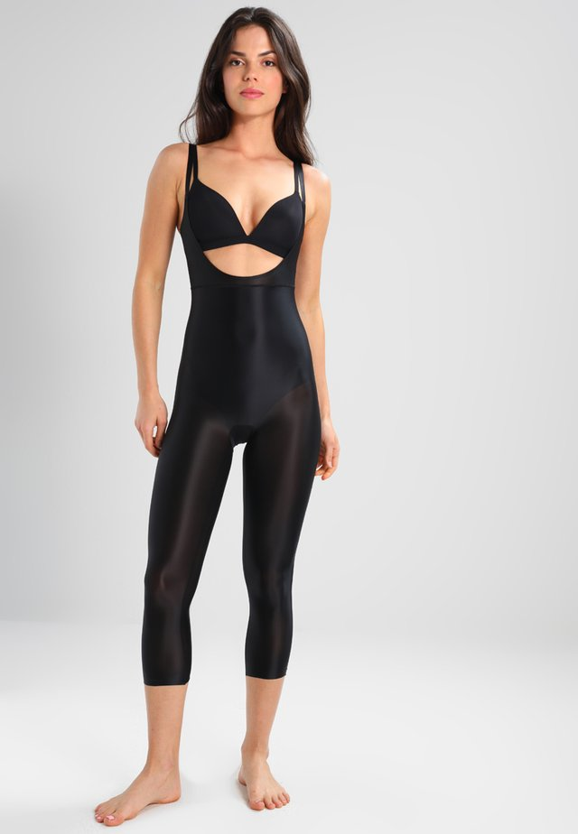 SUIT YOUR FANCY OPEN BUST CATSUIT - Body - black