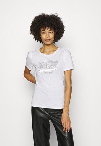 MARISOL TEE - T-shirt z nadrukiem - true white